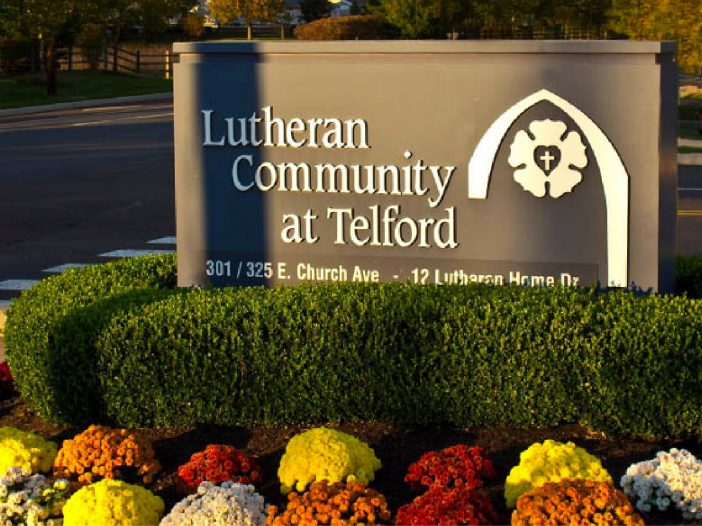 Lutheran Community at Telford sign