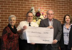 Telford Fire Company check presentation